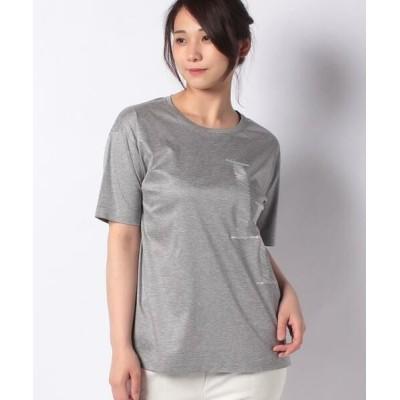 Leilian/レリアン ロゴTシャツ グレー系4 9