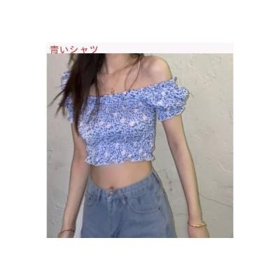 【送料無料】年 夏 単語 肩 シャツ 女 デザイン 感 小 折り畳む シャツ 何   364331_A63350-8891757