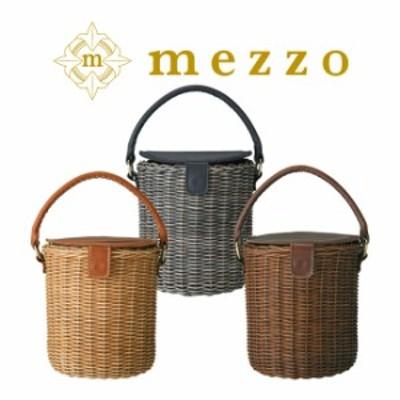 メゾ バッグ コロンとした丸いフォルムが可愛い 職人作りのラタンバケツ型バッグ