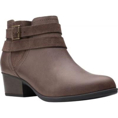 クラークス Clarks レディース ブーツ ショートブーツ シューズ・靴 Adreena Show Ankle Bootie Dark Taupe