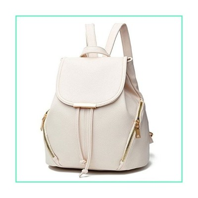 Aiseyi Women Backpack Purse PU Leather Cute Backpack Casual Shoulder Bag Fashion Ladies Satchel Bags (Beige)並行輸入品