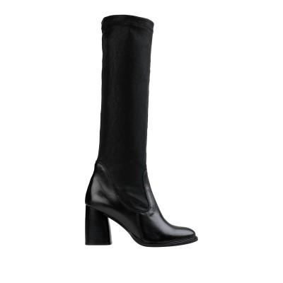 FABBRICA DEI COLLI ブーツ ブラック 38 革 / 紡績繊維 ブーツ