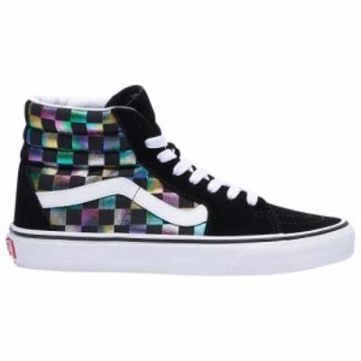 ヴァンズ Vans レディース スケートボード シューズ・靴 SK8-Hi Black/True White Iridescent Check