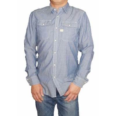 ジースターロウ G-STAR-RAW 長袖シャツ ウエスタン  シャンブレー 83621E メンズ 春物 ワーク ジースターロゥ