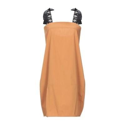 レリッシュ RELISH ミニワンピース&ドレス キャメル XS コットン 70% / ナイロン 27% / ポリウレタン 3% ミニワンピース&ド