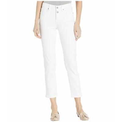 エヌワイディージェイ レディース デニムパンツ ボトムス Sheri Ankle Jeans with Mock Fly in Optic White Optic White