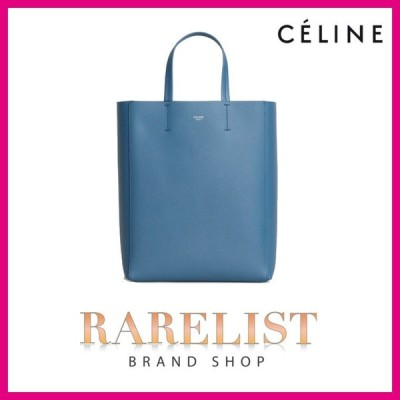 セリーヌ CELINE バッグ バック トートバッグ ショルダーバッグ 2WAY スレイトブルー ブルー レザー 本革 ロゴ