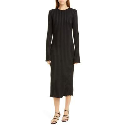 サイモンミラー ワンピース トップス レディース RIB by SIMON MILLER Wells Long Sleeve Midi Dress Black