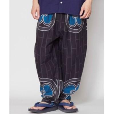 倭物やカヤ 公式 [片喰ノ紋メンズパンツ] 和柄 和モダン  ファッション メンズボトムス 7IA-1145