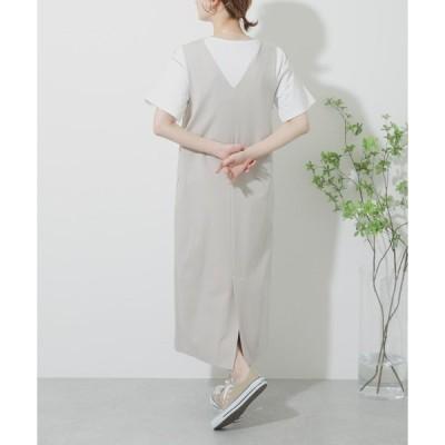 ワンピース Vネックカットジャンパースカート