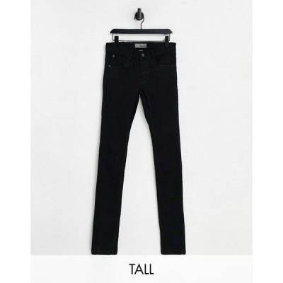 フレンチコネクション French Connection メンズ ジーンズ・デニム スキニー・スリム ボトムス・パンツ Tall slim fit jeans in black ブラック