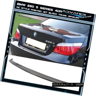 エアロパーツ 04-10 BMW 5シリーズE60 M5 4Dr ACトランク・スポイラーOEM塗装カラー#668ジェット・ブラック 04-10 BM