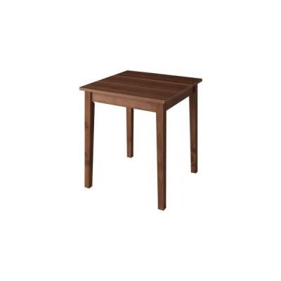 ダイニングテーブル単品 ブラウン 幅68 奥行き68 高さ72cm 北欧 ダイニング Lucks ルクス 木製 食卓テーブル