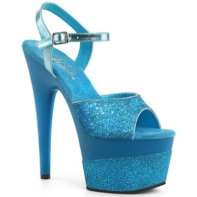 サンダル プリーザー pleaser ADORE-709-2G Aqua Multi Glitter/Aqua Multi Glitter ストラップ レディース 靴 お取り寄せ商品