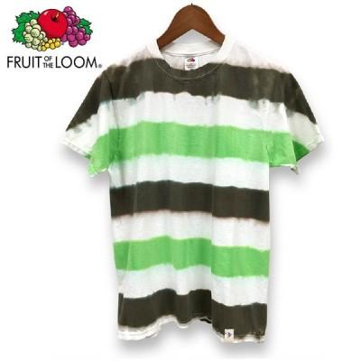 フルーツオブザルーム fruit of the loom タイダイ 染め ボーダー Tシャツ