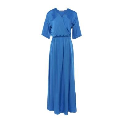 CARACTÈRE ロングワンピース&ドレス アジュールブルー 40 レーヨン 57% / キュプラ 43% ロングワンピース&ドレス