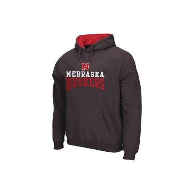 カレッジ NCAA アメリカ USA 大学 スポーツ コロシアム Nebraska Cornhuskers チャコール Logo Arch プルオーバーパーカー