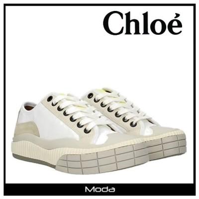 クロエ スニーカー レディース ホワイト Chloe 靴 ロゴ ローカット