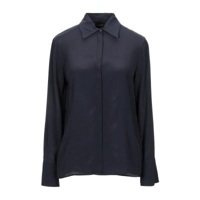 リュー ジョー LIU •JO シャツ ダークブルー 40 アセテート 76% / シルク 24% シャツ