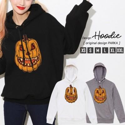 パーカー レディース 長袖 トップス パーカー プルオーバー フード付き ハロウィン かぼちゃ ホラー