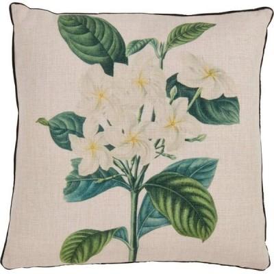 """サロライフスタイル Saro Lifestyle ユニセックス 雑貨 ブランケット Gardenia Print Throw Pillow, 18"""" x 18"""" Natural"""