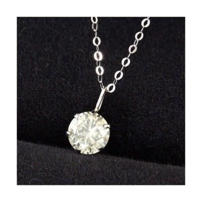 ネックレス レディース【鑑定書付】0.5ct SI-2 Good 天然ダイヤモンド Pt900 プラチナ ペンダント ネックレス 4月誕生石
