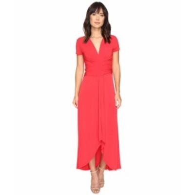 マイケルコース レディース ワンピース トップス Short Sleeve Maxi Wrap Dress True Red