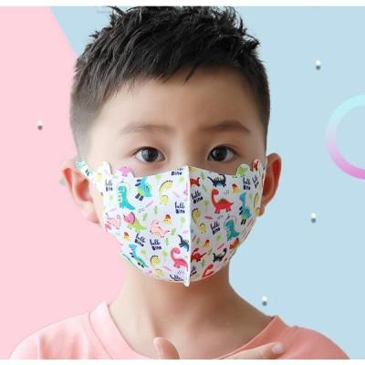10枚入り マスク 子供用 冷感 マスク 夏用マスク キッズ用 恐竜柄 子供用 UVカット 薄い ストレッチ素材 洗える maskマスク 4-12歳 こども 学生マスク