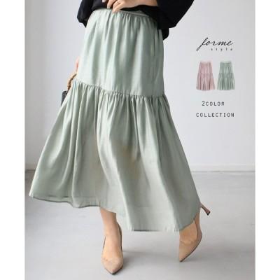 40代 50代 オフィスカジュアル style forme 大人女性を格上げする2段フレアスカート