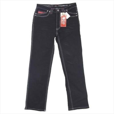GYANN BROS.ZERO 663532 ルーニーテューンズ ストレート 刺繍 デニム パンツ ブラック系 88 【美品】【中古】