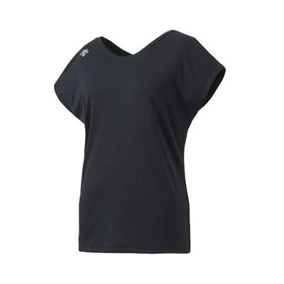 デサント DESCENTE ウォーターブロック 2WAYネックTシャツ レディースウェア DMWPJA57-BK
