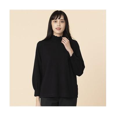 <MISSEL/ミゼール> 大きいサイズ パール付きフリル襟セーター クロ【三越伊勢丹/公式】