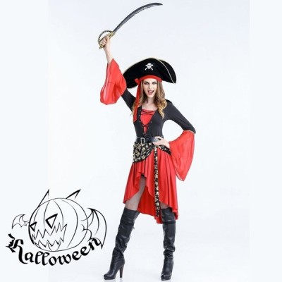 コスプレ 変装 仮装 祭り 海賊 女性海賊 船長 キャプテン キャラクター コスチューム 一式 ハロウィン 衣装 イベント 大人用 学園祭 文化祭