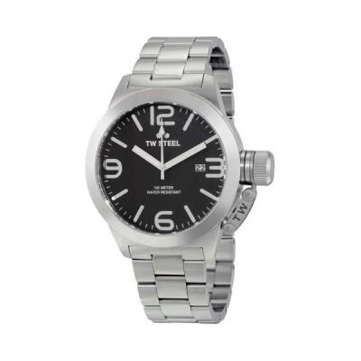 TW スチール Canteen ブラック ダイヤル メンズ カジュアル 腕時計 シービーツー