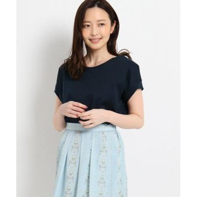 SunaUna(スーナウーナ) カミーユスムース デザインTシャツ