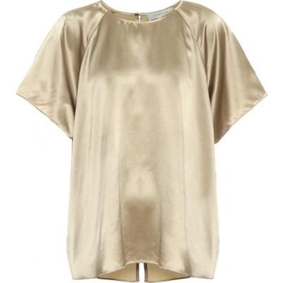 リーマシューズ Lee Mathews レディース ブラウス・シャツ トップス stella silk satin blouse Olive