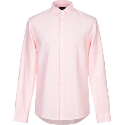 SELECTED HOMME シャツ ピンク 40 オーガニックコットン 85% / 麻 15% シャツ