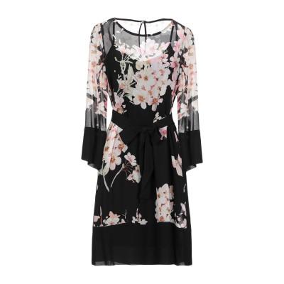 ツインセット シモーナ バルビエリ TWINSET ミニワンピース&ドレス ブラック 44 レーヨン 100% ミニワンピース&ドレス