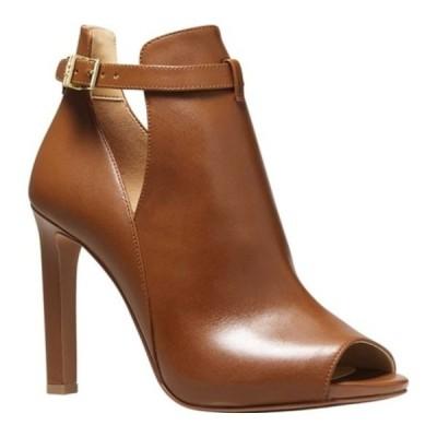 マイケルコース ブーツ&レインブーツ シューズ レディース Lawson Open Toe Bootie (Women's) Luggage Vachetta Leather