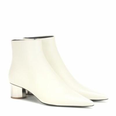 プロエンザ スクーラー Proenza Schouler レディース ブーツ ショートブーツ シューズ・靴 leather ankle boots Ecru/Heel Silver