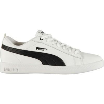 プーマ Puma レディース スニーカー シューズ・靴 Smash Leather Trainers White/Black