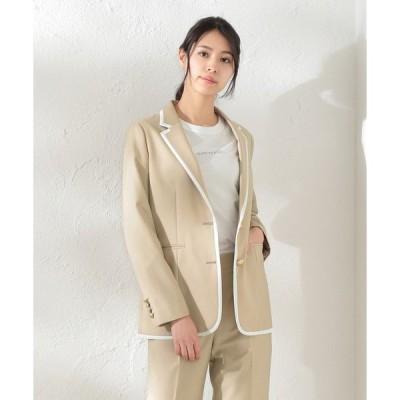 ジャケット テーラードジャケット 【LOVELESS×otona MUSE】WOMEN リネンライクパイピングジャケット