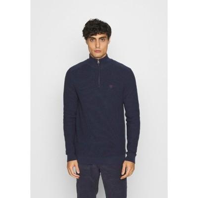 ピアワン ニット&セーター メンズ アウター Jumper - mottled dark blue