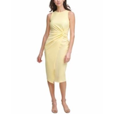ゲス レディース ワンピース トップス Twist-Front Scuba-Crepe Sheath Dress Butter