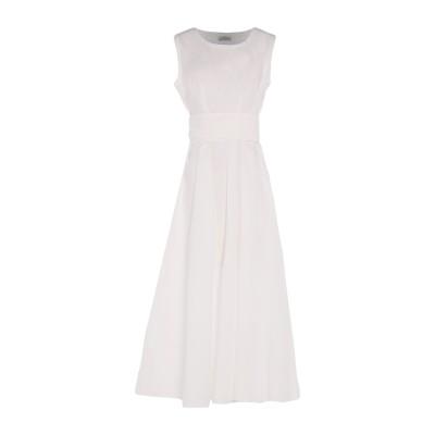 AUTHENTIC ORIGINAL VINTAGE STYLE 7分丈ワンピース・ドレス ホワイト M コットン 100% 7分丈ワンピース・ドレス
