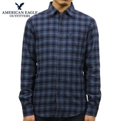 アメリカンイーグル シャツ メンズ 正規品 AMERICAN EAGLE 長袖シャツ ネルシャツ  FLANNEL SHIRT 0513-8691