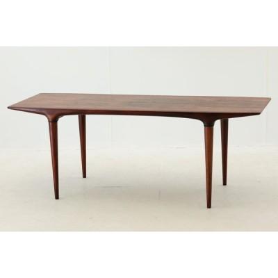 Illums Bolighus(イルムス・ボリフス) ローズウッド材 センターテーブル 幅130cm デンマーク製 北欧ビンテージ家具