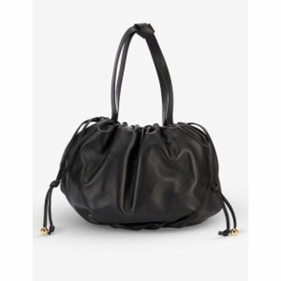 ボッテガ ヴェネタ BOTTEGA VENETA レディース ショルダーバッグ レザー バッグ The Medium Bulb Leather Shoulder Bag BLACK GOLD