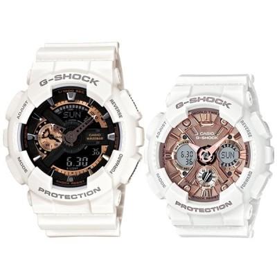 ペア ウォッチ ホワイト お揃い デジタル 時計 Gショック カシオ 腕時計 メンズ レディース BASIC ビッグケース Sシリーズ 海外モデル