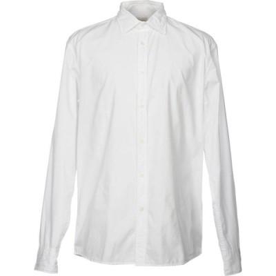 デペール DEPERLU メンズ シャツ トップス solid color shirt White